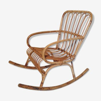 Rocking chair en rotin pour enfant