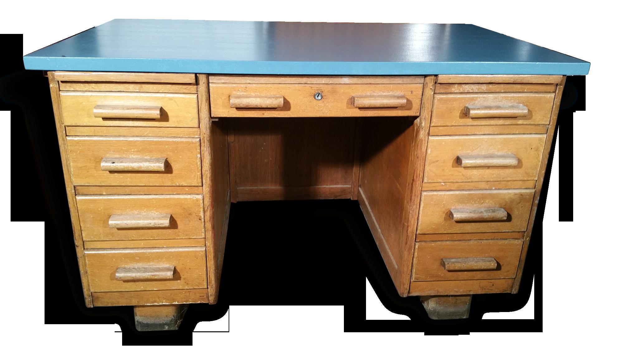Ancien bureau de notaire frais de port compris bois matériau