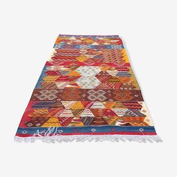 Tapis berbère marocain kilim 155x270cm