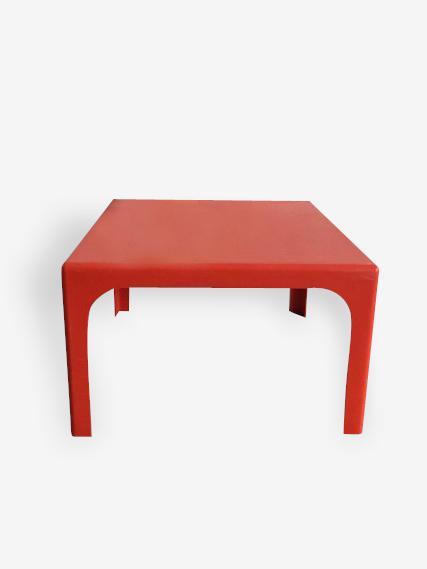 Table basse fibre de verre orange
