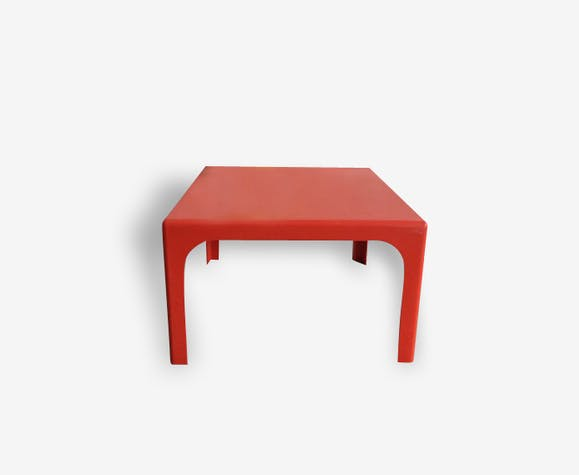 Table basse fibre de verre orange