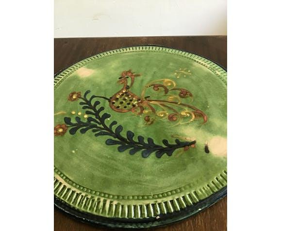 Glazed terracotta platter