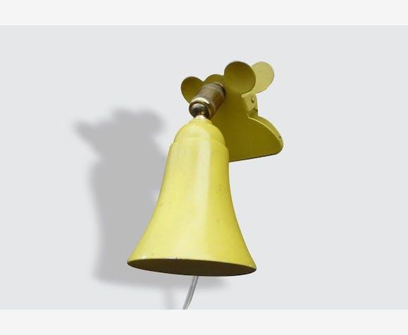 Lampe De Chevet A Pince Vintage Metal Jaune Vintage 442