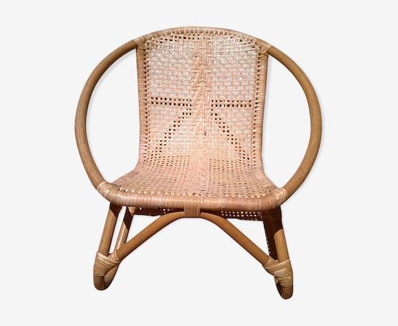 Bamboo Rattan child Chair