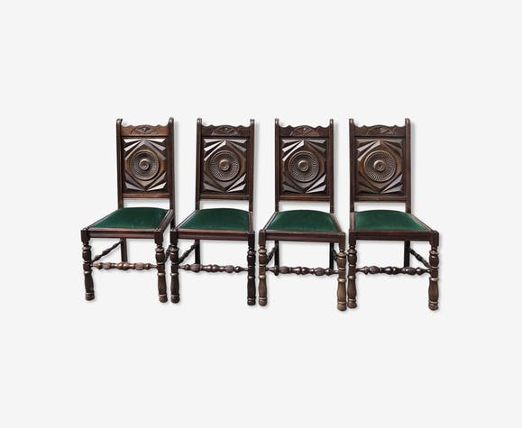Vintage velvet chair