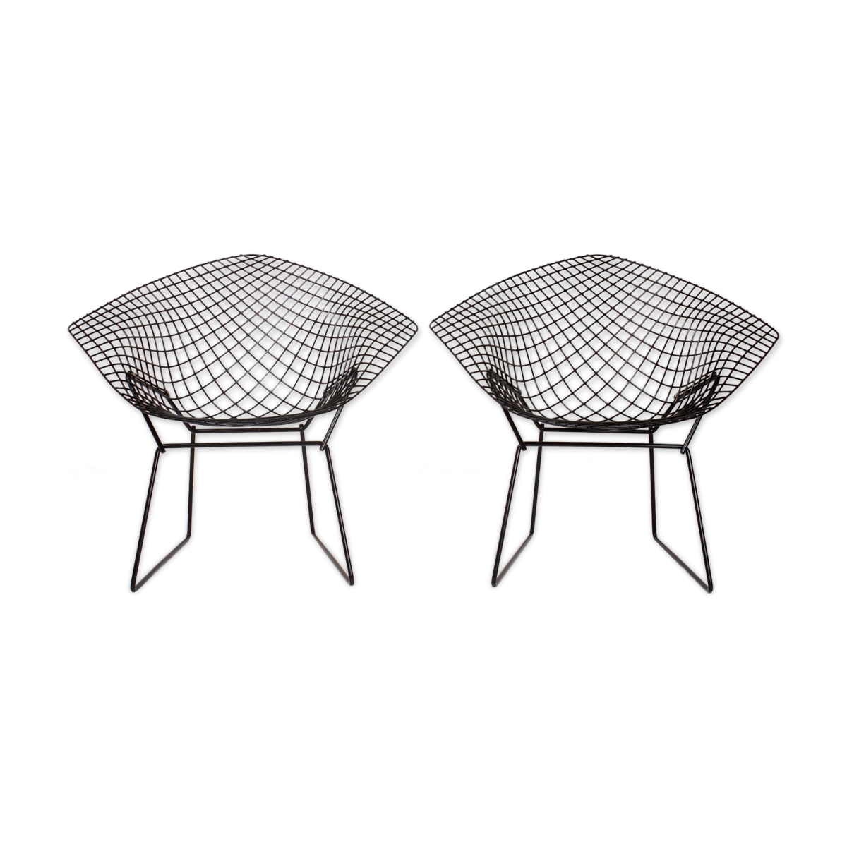 Paire de fauteuils Diamant de Harry Bertoia pour Knoll International