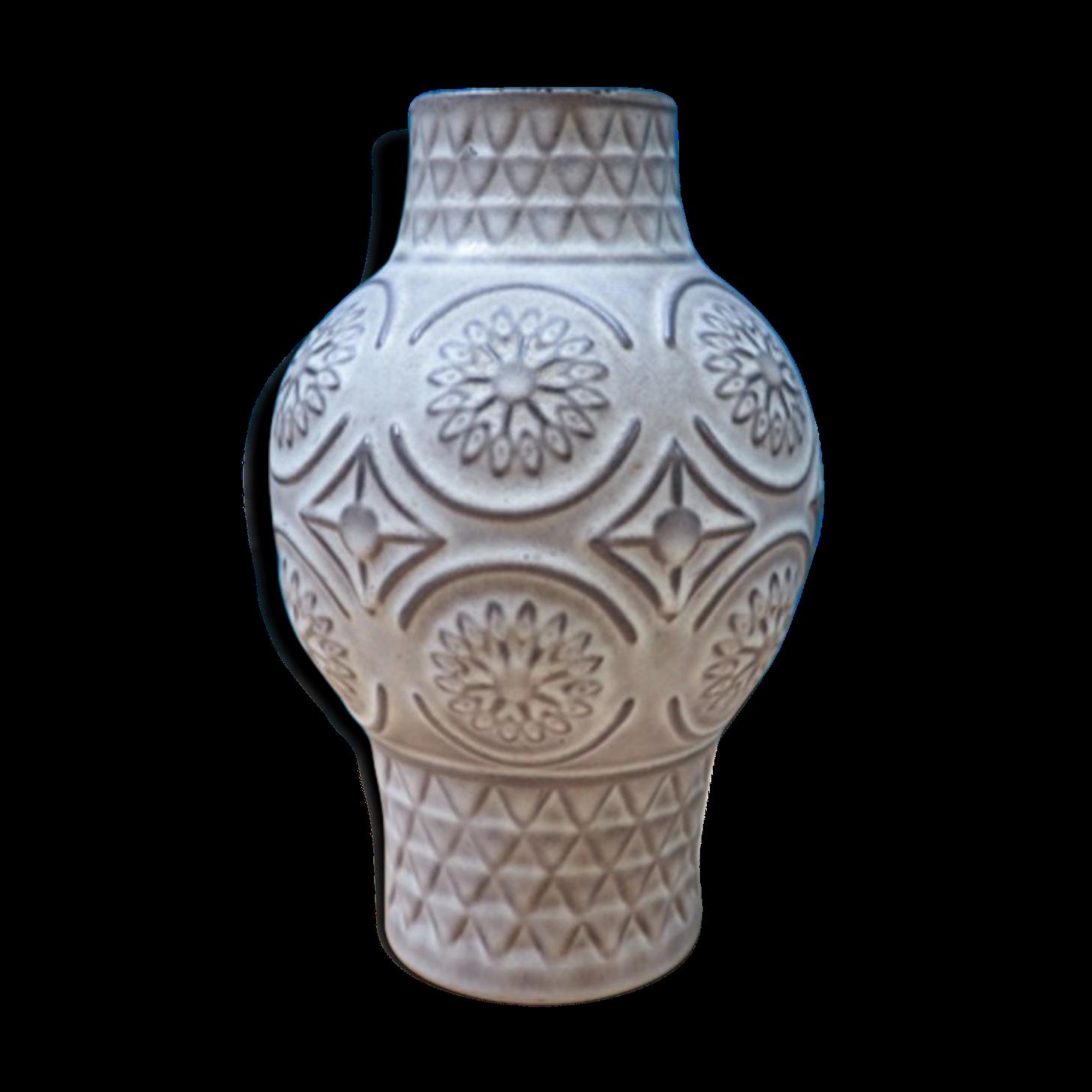Vase couleur écrue