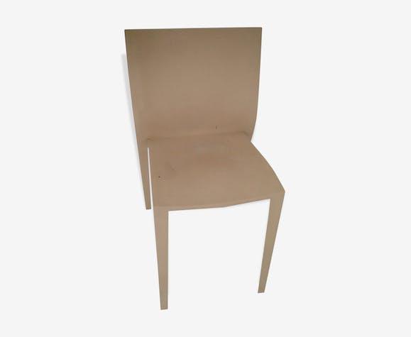 4 chaises philippe starck slick slick plastique beige. Black Bedroom Furniture Sets. Home Design Ideas