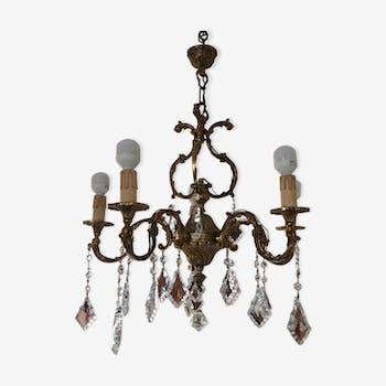 tr s grosse lanterne cylindrique en bronze et verres. Black Bedroom Furniture Sets. Home Design Ideas