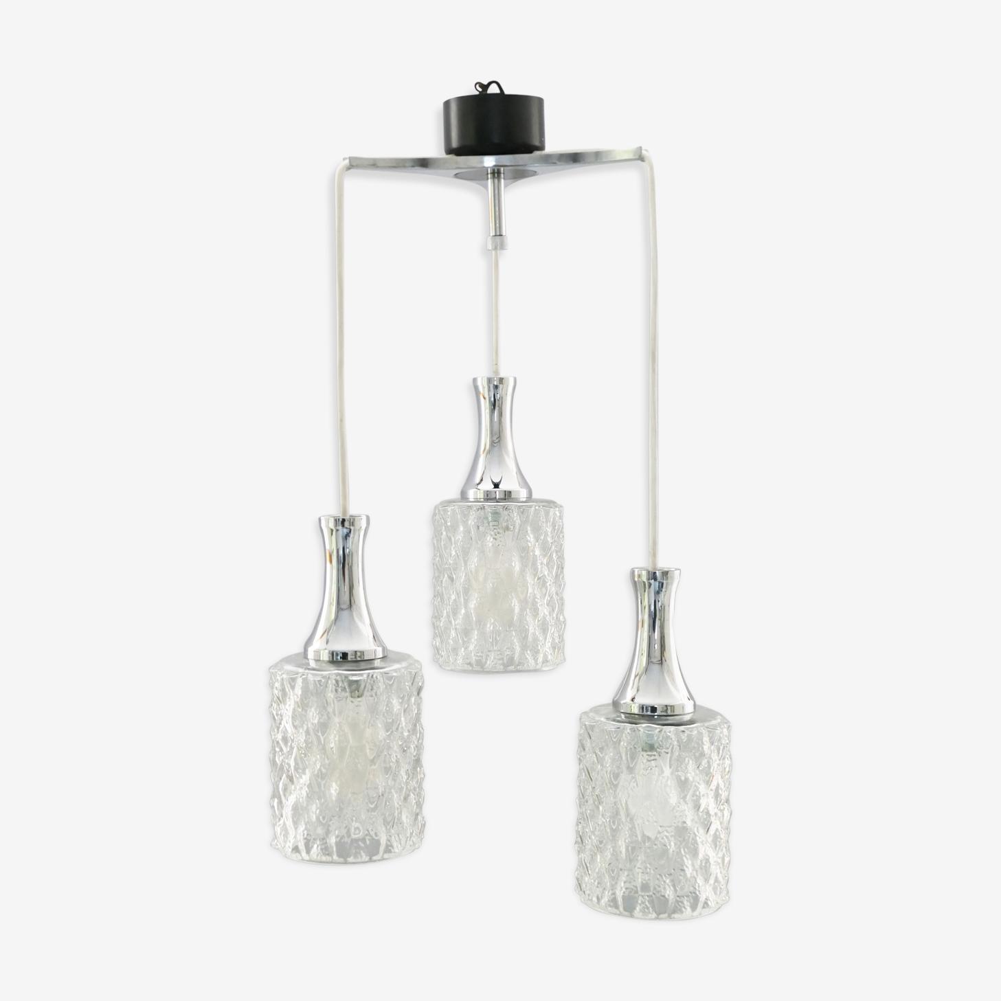 Hanging lamp 3 globes 1970