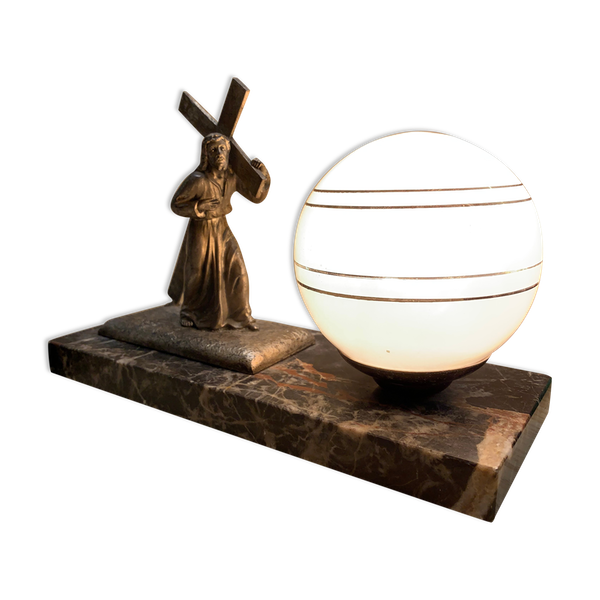 Lampe sur marbre années 50/60
