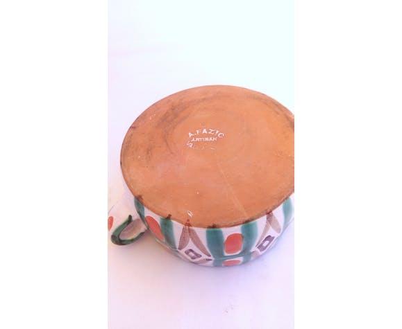 Pot à anses Fazio Vallauris motifs géométriques