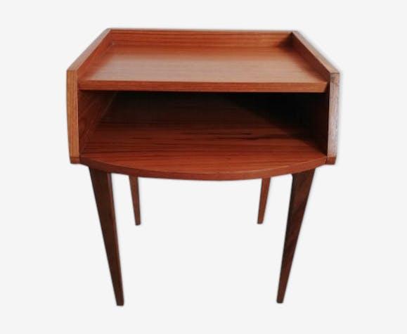 Table de chevet en bois vintage