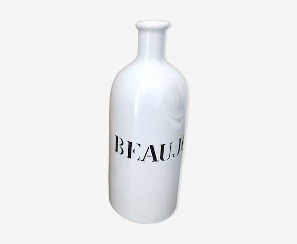 """Bouteille """"beaujolais"""" céramique blanche"""