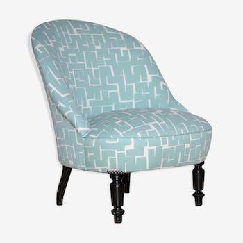 paire de fauteuils tissu bleu classique zjyeopz. Black Bedroom Furniture Sets. Home Design Ideas