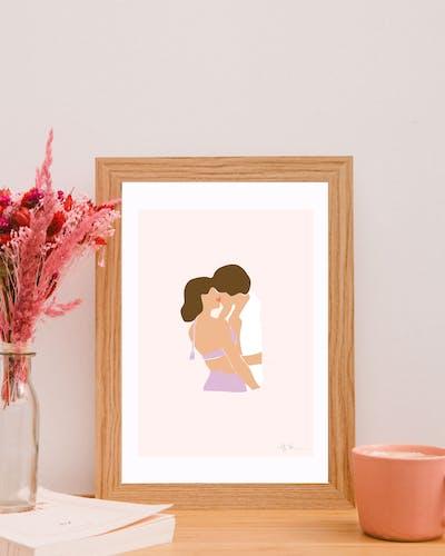 Illustration Amour - Le baiser