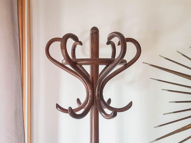 Porte manteau vintage en bois rustique