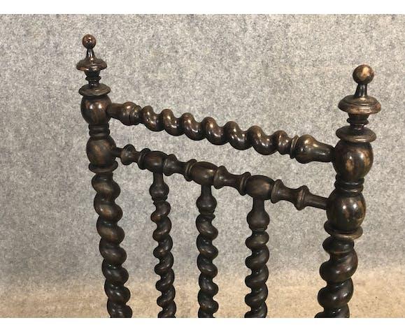 Chaise basse en bois torsadé XIXème