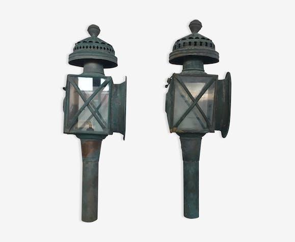 Anciennes lampes de cal che cuivre vert vintage lnud9xk - Lampes de salon anciennes ...