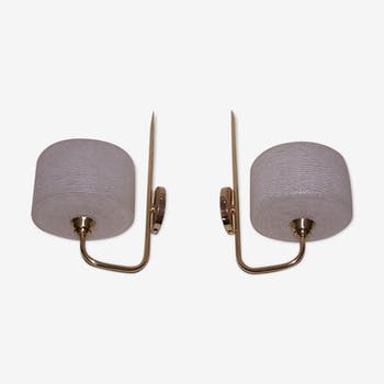 Pair of Lunel wall lamps 50
