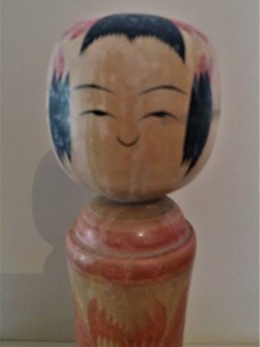 Kokeshi poupée japonaise Naruko signée 31 cm milieu XXème