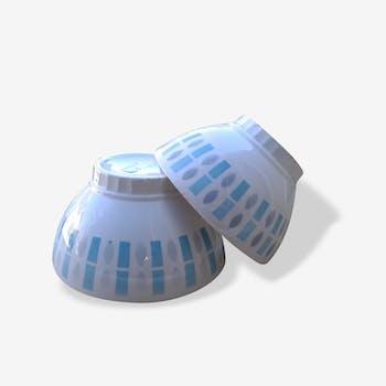 2 Badonviller earthenware bowls