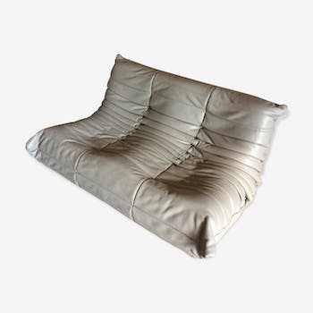 "Sofa 2 seater ""Togo"" leather by Michel Ducaroy for Ligne Roset"
