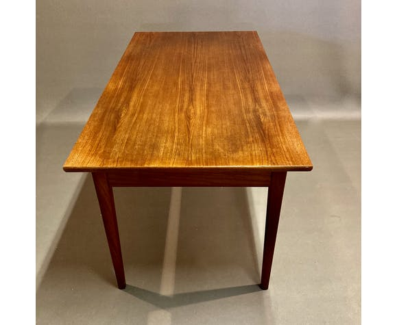Table haute teck design scandinave 1950