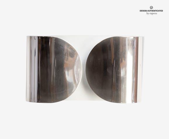 Foglio wall lamp by tabio scarpa for flos 1960 metal silver