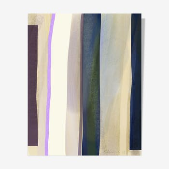Purple Ink Stripes — 40 x 50 cm