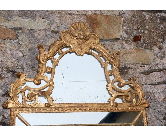 2499 Grand miroir à parcloses fin XIX