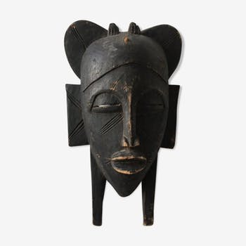Ancient African solid wood mask