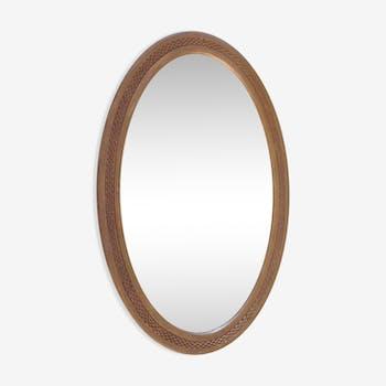 Miroir ancien biseauté 52x34cm
