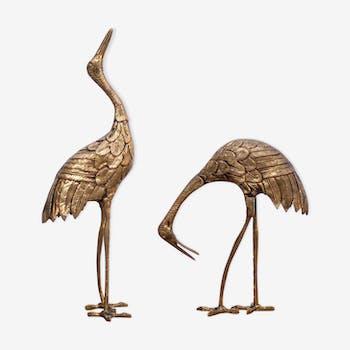 Pair of birds brass 1950