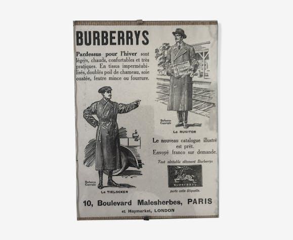 Affiche publicitaire Burberry