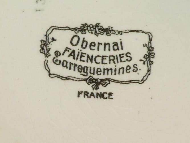 Soupiere en faience de Sarreguemines modele Obernai