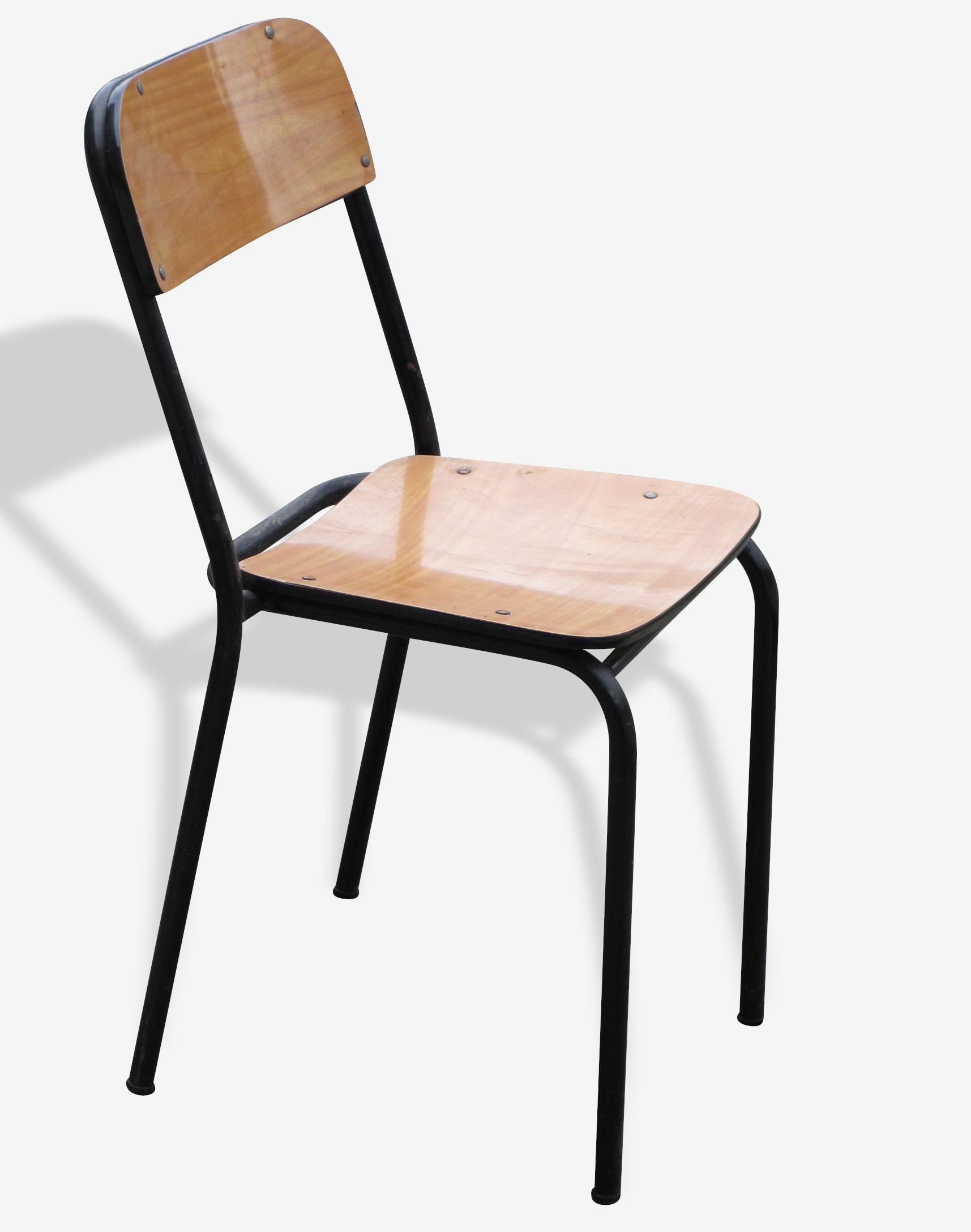 Lot de chaises vintages en Formica