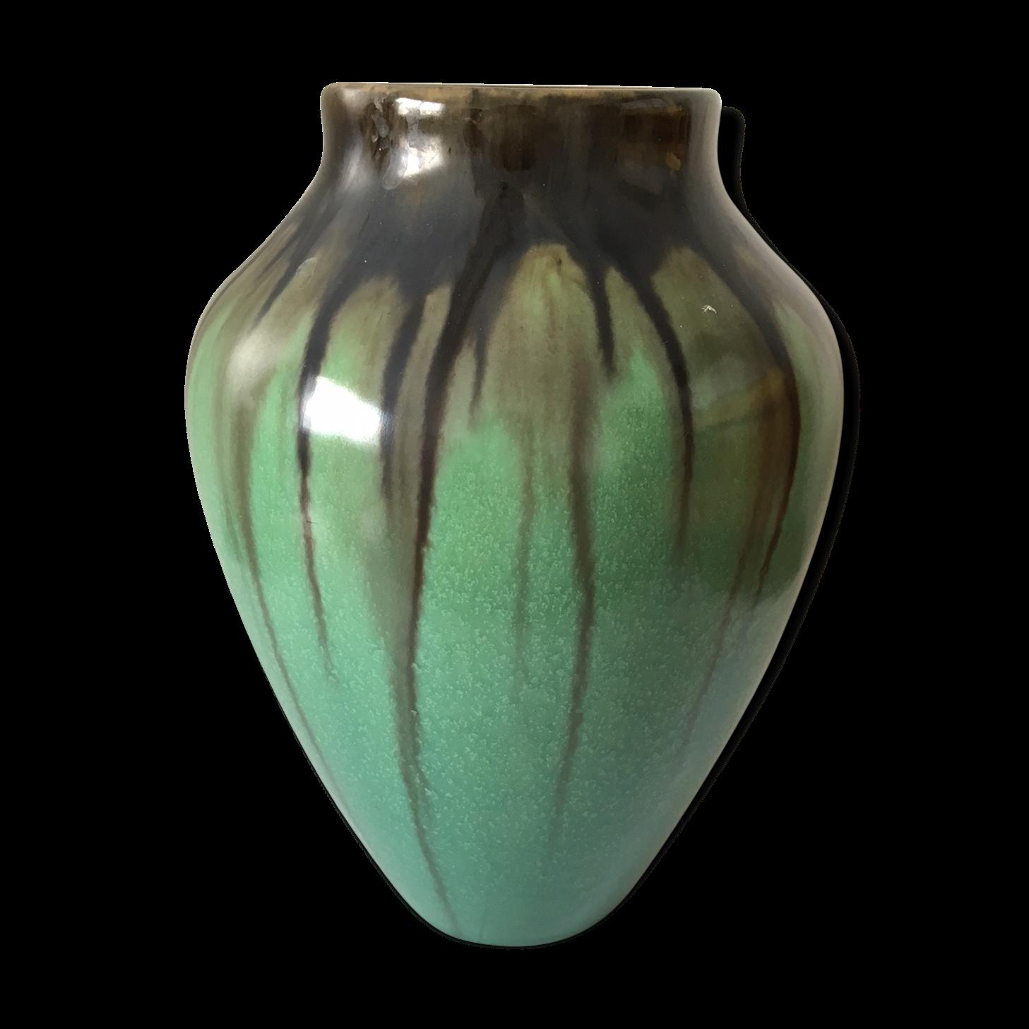 finest ovoid vase enamelled ceramic with vase en plexiglas. Black Bedroom Furniture Sets. Home Design Ideas