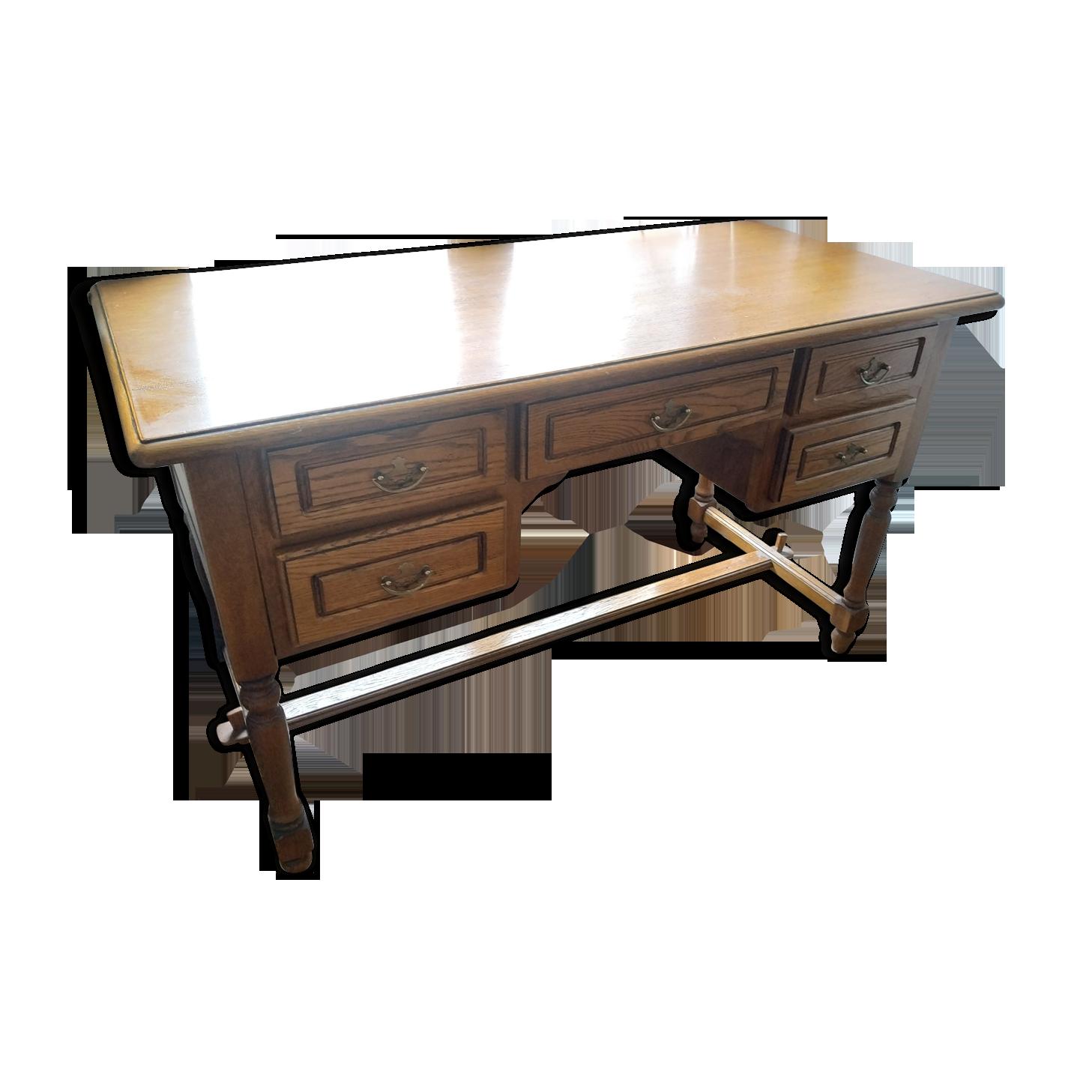 Bureau chêne massif bois matériau bois couleur classique