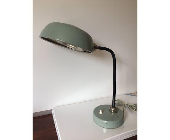 Lampe de bureau industrielle vintage grise