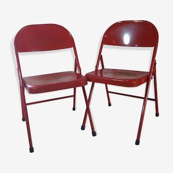 Paire de chaises Krueger édition originale américaine des années 50