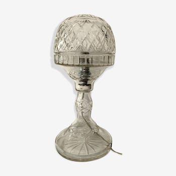 Antique crystal Art Deco boudoir lamp