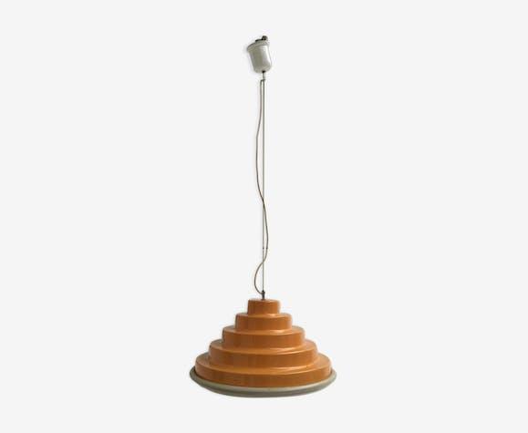 Lampe à suspension en métal faite en Italie 1970s