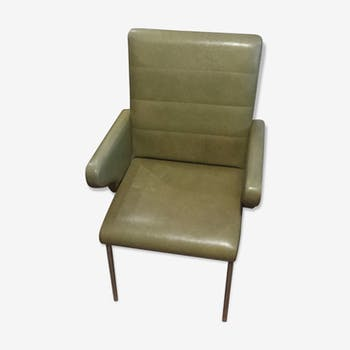 Armchair in leatherette