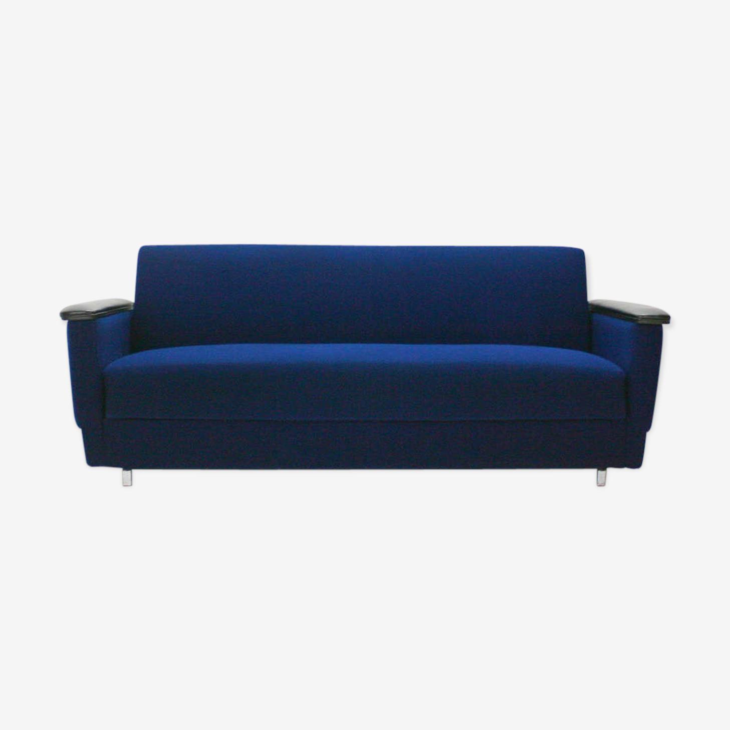 Canapé 2 places bleu années 60