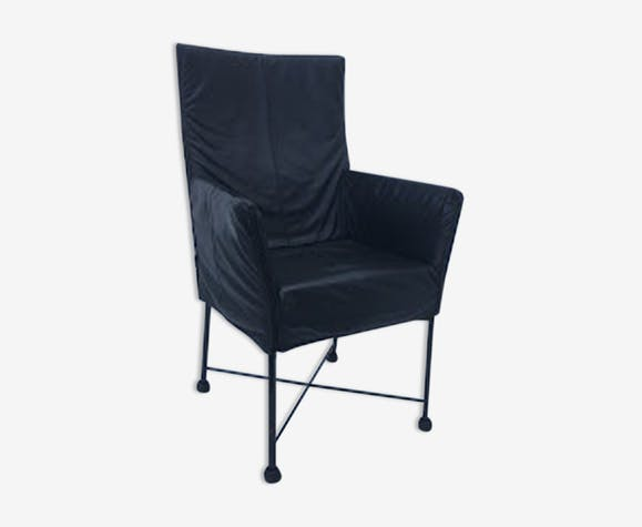Fauteuil Charly Montis.Chair Montis Charly Tissu Bleu Vintage Kzoq0hr