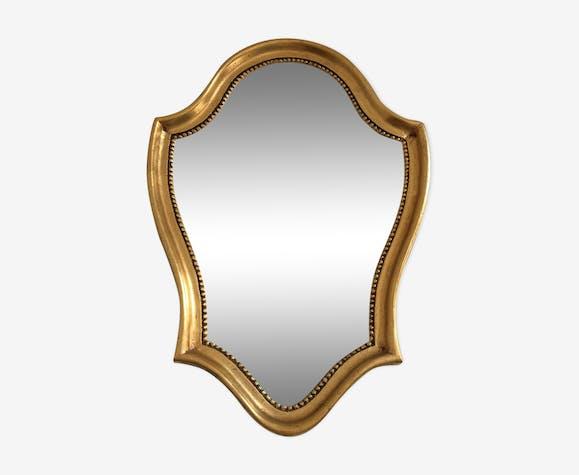 Miroir ancien doré style baroque 39x27cm