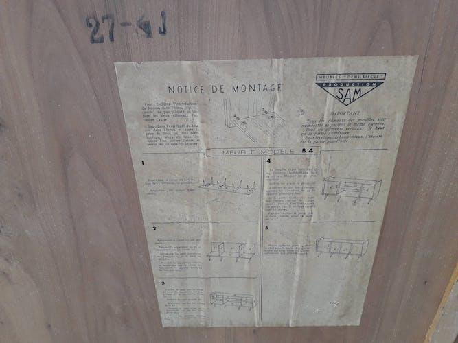 Enfilade pieds compas, 1950