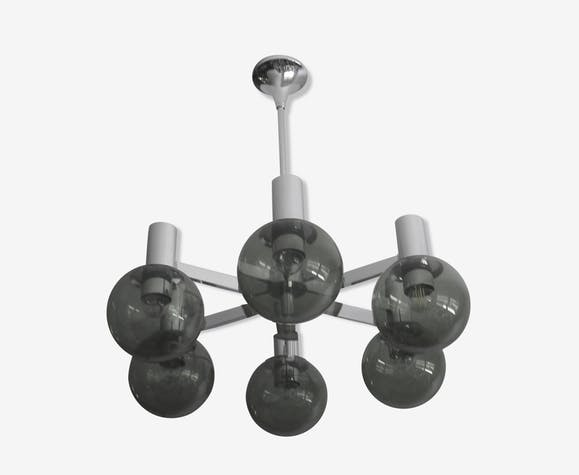 Lustre Spoutnik par Kaiser Leuchten vintage 1960