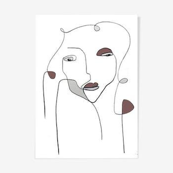 Femme en couleur - 30x42cm
